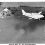 Beechcraft Queen Air G-AZOH with magnetometer