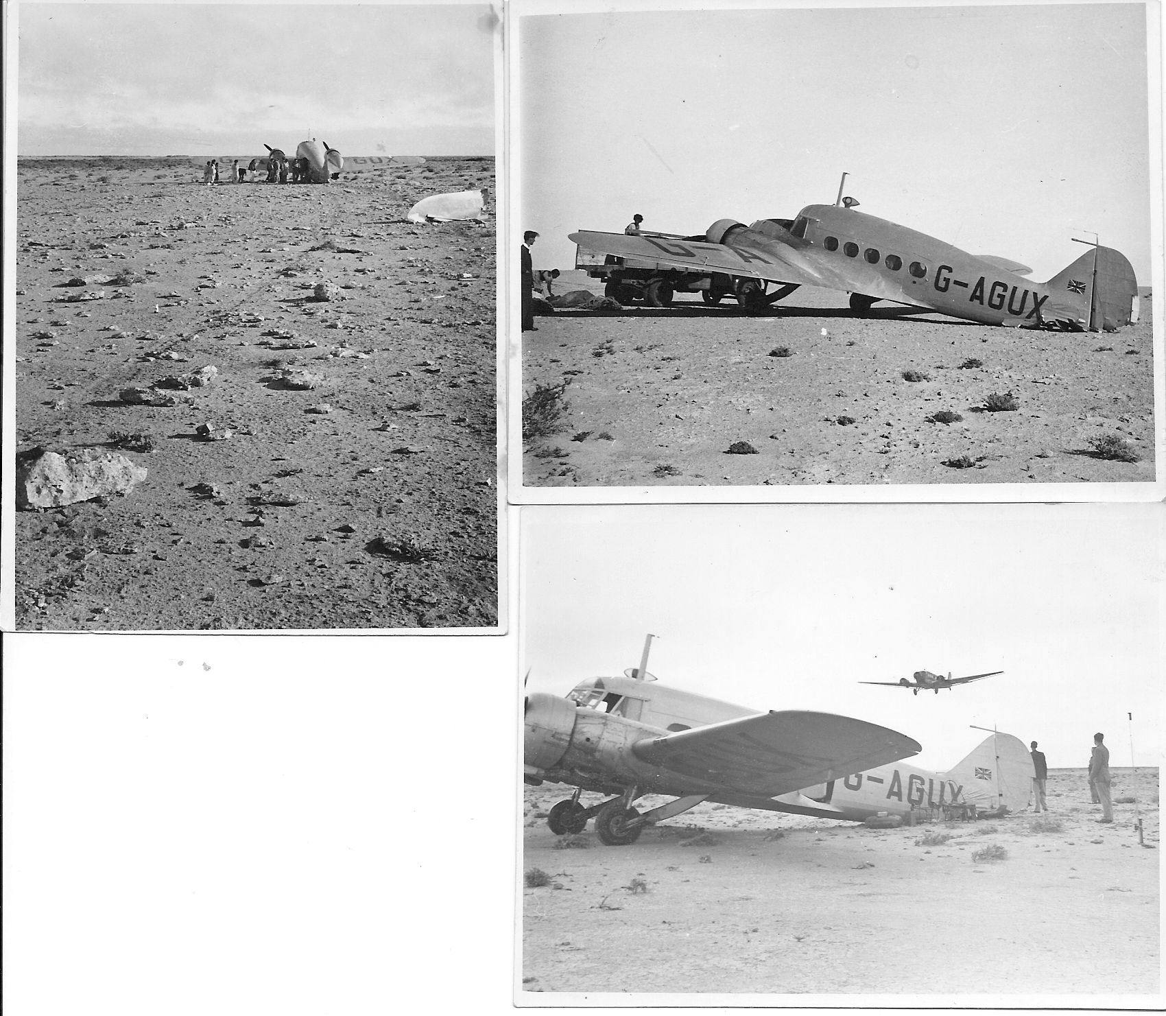 This is half the story of an unfortunate incident with an Avro Anson.  No date or location given