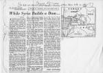KR Syrian dam survey newspaper cutting