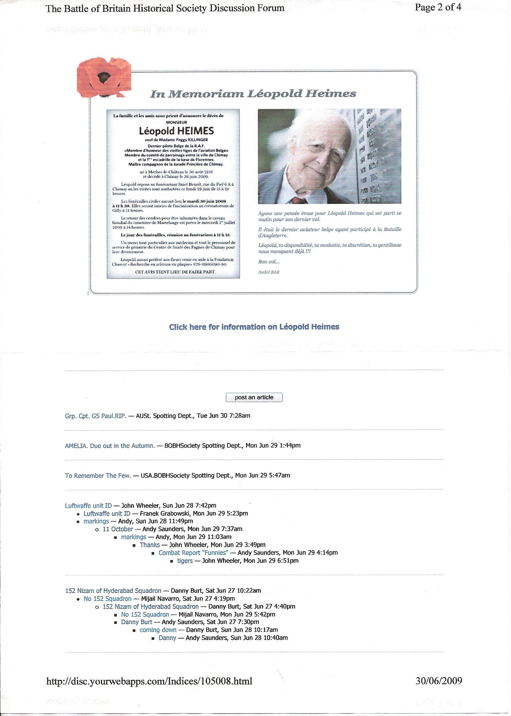 Leopold Heimes funeral notice